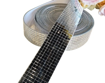 Self-Adhesive Roll Glass Mosaic, Silver Glass Mirror Mosaic, Mini Square Glass Mosaic,Mosaic Mirror Titles