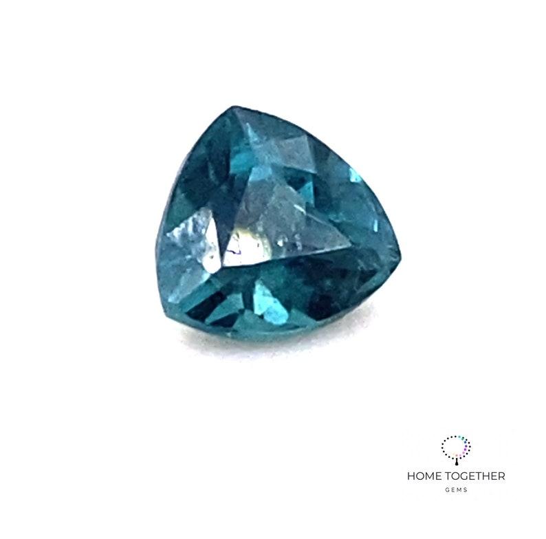 Blue Tourmaline Gems Gorgeous Deep Caribbean Blue Indicolite Tourmaline Designer Trillion Gemstone 7.5 X 7.3 MM 1.65 Carats