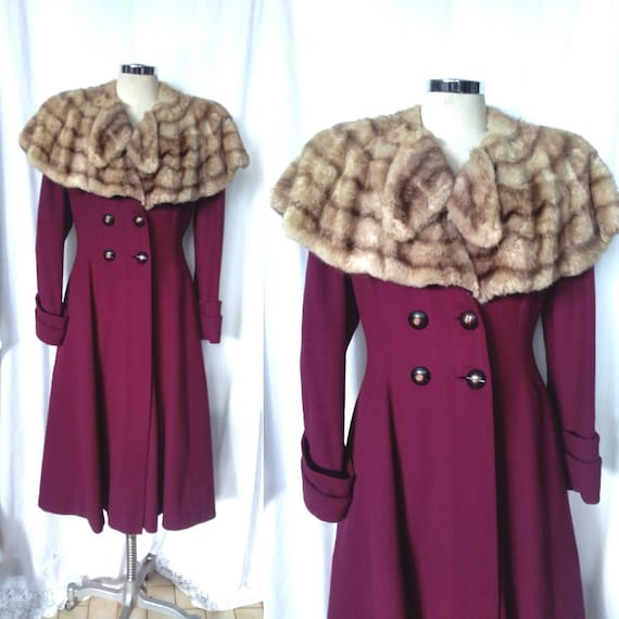 Amazing True Vintage 30's Fit and Flare Coat with