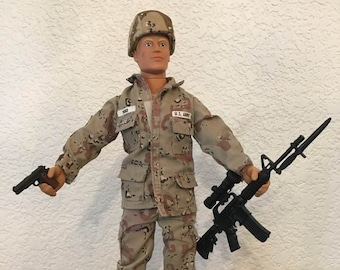 Vintage GI Joe SOTW Marine Dress Uniform Jacket and Pants 12/""