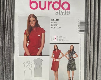 Burda Sewing Pattern - Wrap dress and short sleeve F/S 2010 #7516