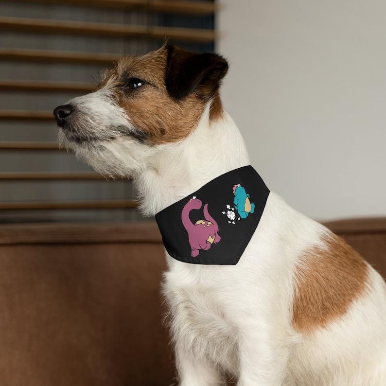 Cute dog pet bandana pet Dino Toots Dog Bandana nylon Collar Cute dog gift Adjustable nylon collar cute Dog scarf Bandana collar Dog