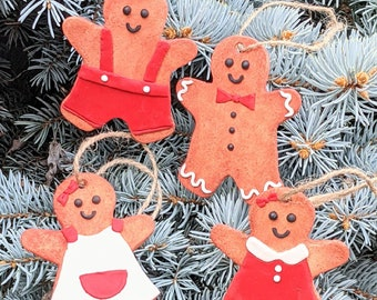 Ginger Bread Cookie Ornament, Tiny Food Funny Christmas Ornament, Miniature Food Christmas Ornament, Cute Ornament, Handmade Christmas Gift