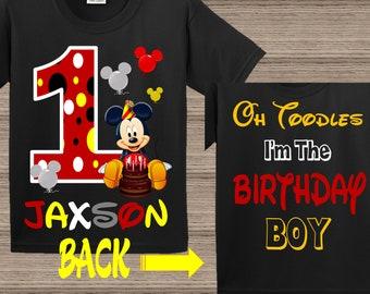 Mickey Family Shirts Disney Family Shirts Mickey Mouse Birthday Shirts 1st Birthday 2nd Birthday Mickey First Birthday Birthday Decoration