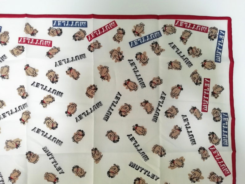Vintage Hanna Barbera Muttley Wackey Race Handkerchief  Bandana