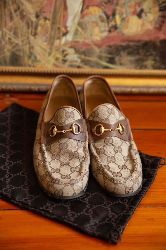 Gucci Cloth Loafers Vintage 70's - image 5
