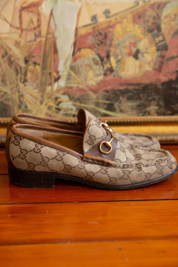 Gucci Cloth Loafers Vintage 70's - image 1
