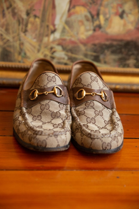 Gucci Cloth Loafers Vintage 70's - image 3