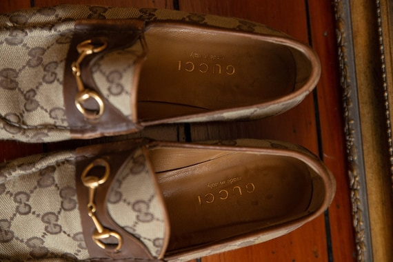 Gucci Cloth Loafers Vintage 70's - image 4