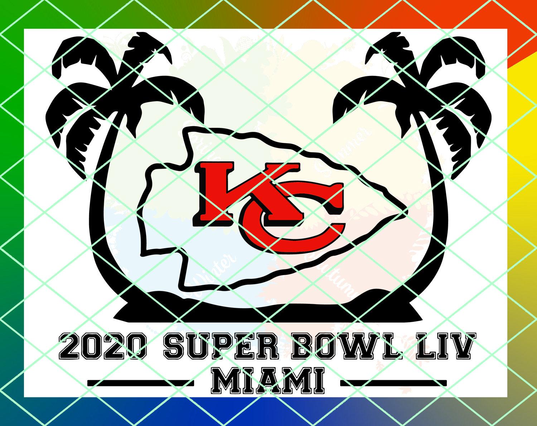 Football Super Bowl 54 Liv Kansas City Chiefs Logo Svg Png Dxf Etsy