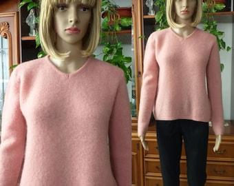 ITALIAN mohair sweater vintage/ Women wool blend sweater/Winter sweater jumper/ Wrap sweater women/Christmas Gift/Gift for her/