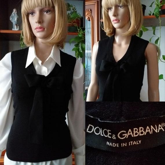 DOLCE&GABBANA wool vest vintage/  Wool sweater ves