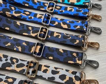 Leopard Pattern Strap, Adjustable Strap, Bag Strap, Patterned Strap, Crossbody Bag Strap