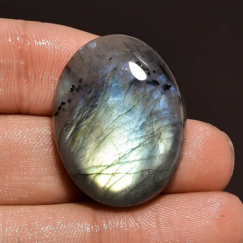 Oval Shape Cabochon Loose Gemstone For Making Jewelry 28X22X7 mm MS-157 Elegant AAA Quality 100/% Natural Labradorite 40.5 Ct