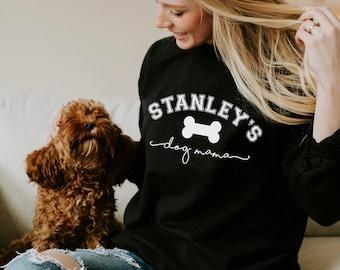 Personalised Dog Mama Jumper, Dog Mum Sweatshirt, Dog Mum gift
