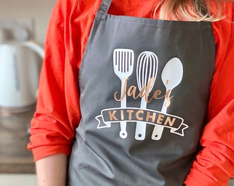 Personalised apron, kitchen, cooking, baking, cover up