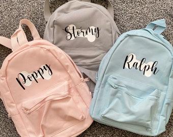 Personalised dog rucksack, backpack, puppy gift, bag
