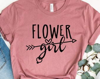 bride squad Personalised Flower Girl Flower Girl Proposal Gift brides crew Flower Girl Shirt bridesmaid Flower Girl Shirt