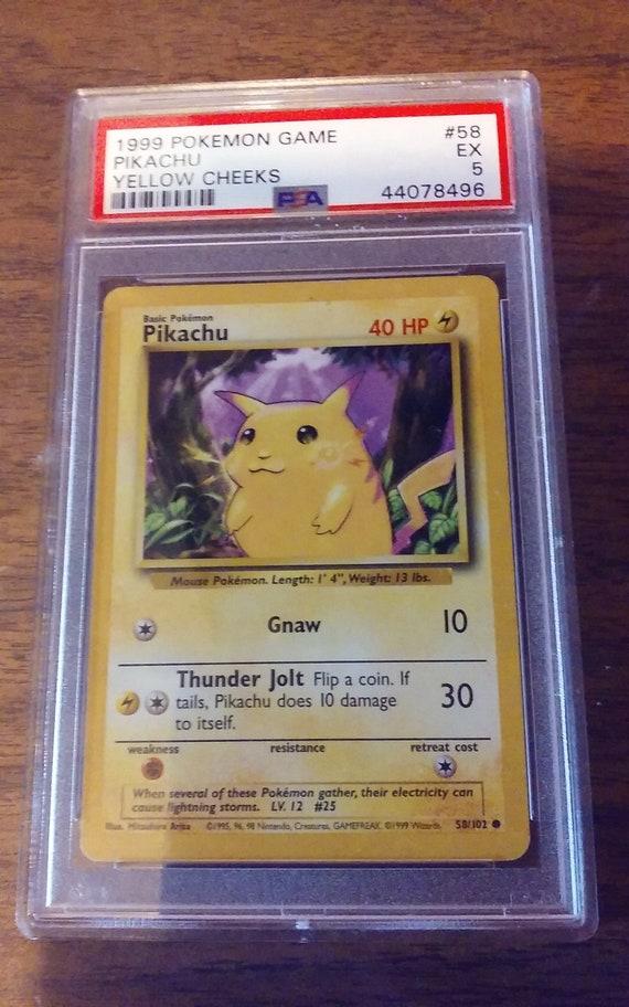 1999 Pokemon Pikachu Base Set 58/102