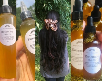 Rosemary Hair Oil, infused oil, 100 % natural.