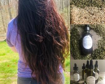 Horsetail & Nettle Hair oil, infused oil , 100% natural.