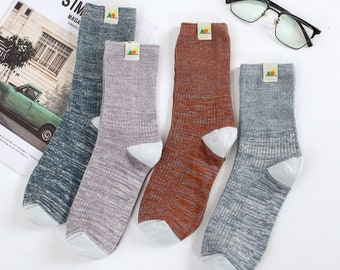 Hemp Socks with Organic Cotton Blend, 4 Pairs Crew socks