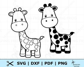 Giraffe Coloring Etsy