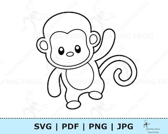 Get This Cute Baby Monkey Coloring Pages for Kids 76301 ! | 270x340
