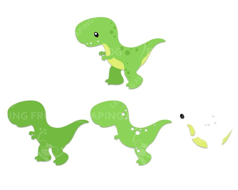 Dinosaur SVG bundle. Cricut cut files layered. Silhouette ...