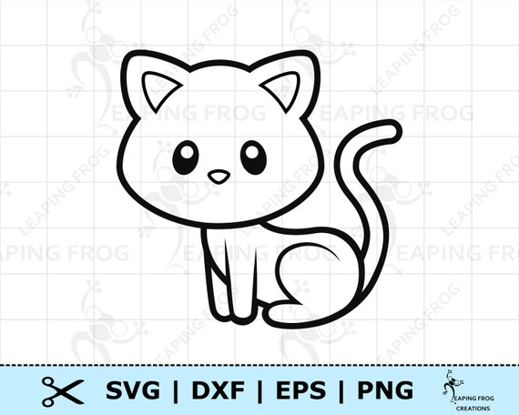Cat Cut Files Eps Vectors Cat Silhouette Cat Clipart Dxf Svg Kitty Dxf Files Cat Png Png Cat Cricut Files Cat SVG Files