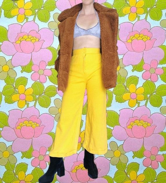 Lemon Yellow 70s Flares // High waisted // Vintag… - image 5