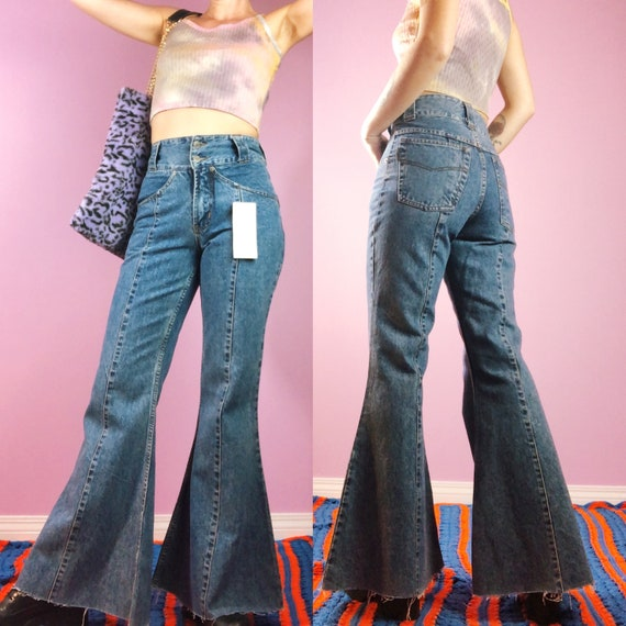 Vintage Bellbottoms // 90s NWT Flares // Stone Was