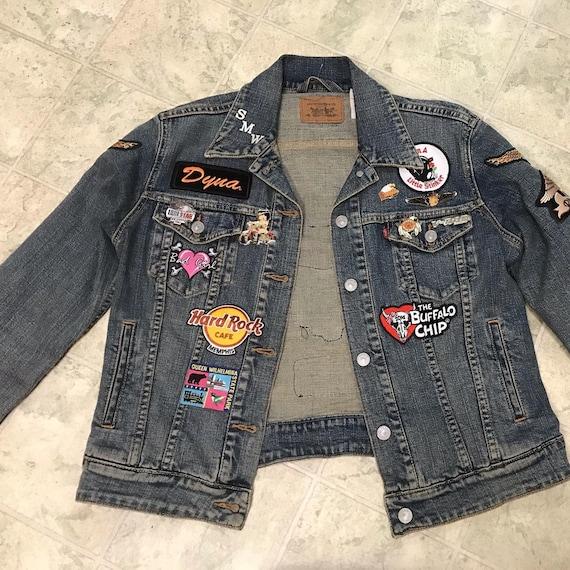 Vintage Levi's Denim Harley Davidson Patch Jacket