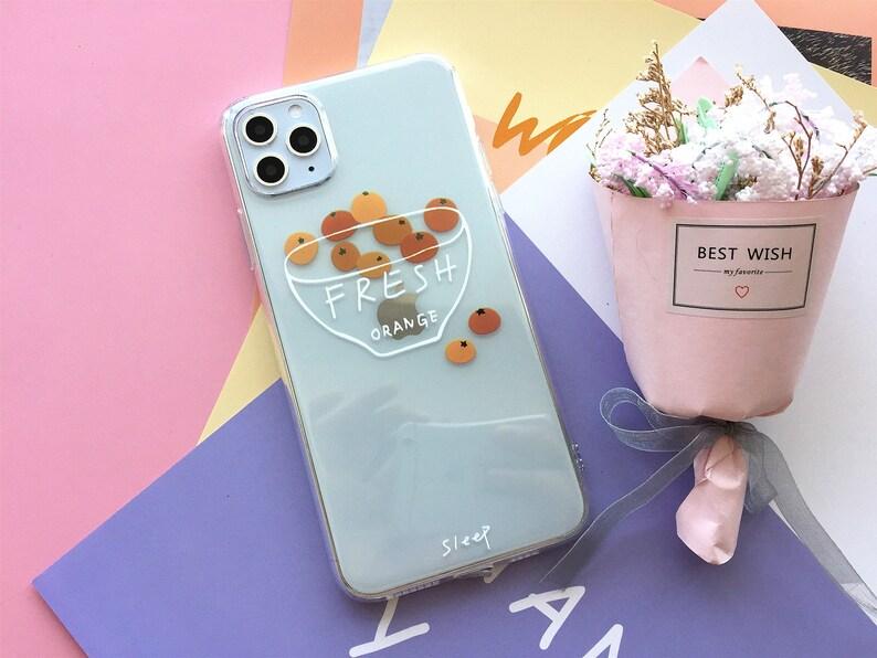 Orange Fresh Fruits Clear Original Phone Case iphone 6 6s 7 8 Plus X Xr Xs Xsm 11 Pro Max case Flexible Silicone Protective Cover\u00a0