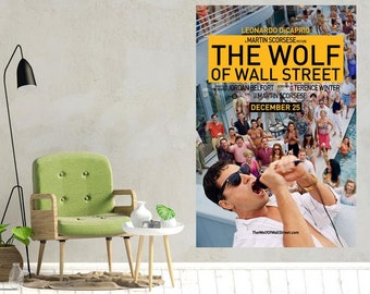 24x36 2013 - DiCaprio Jonah Hill Movie Poster The Wolf of Wall Street