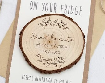 Custom Engraved Magnets MG118 Save the Date Magnet Wood Rustic Save The Dates Personalized Magnet Wooden Save the date Magnet Rustic 20