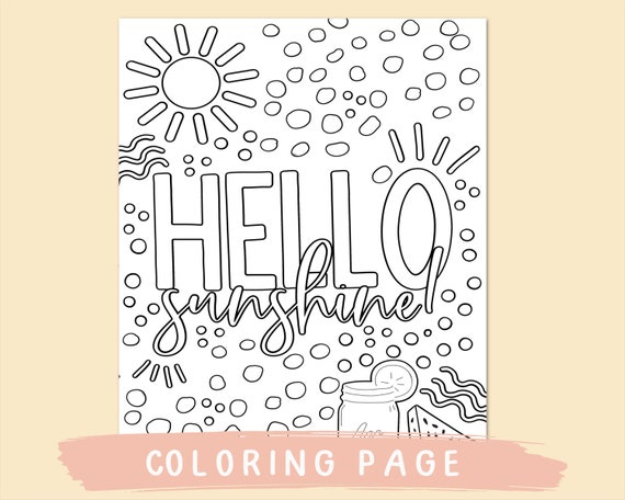 Summer colouring pages printable coloring page quote
