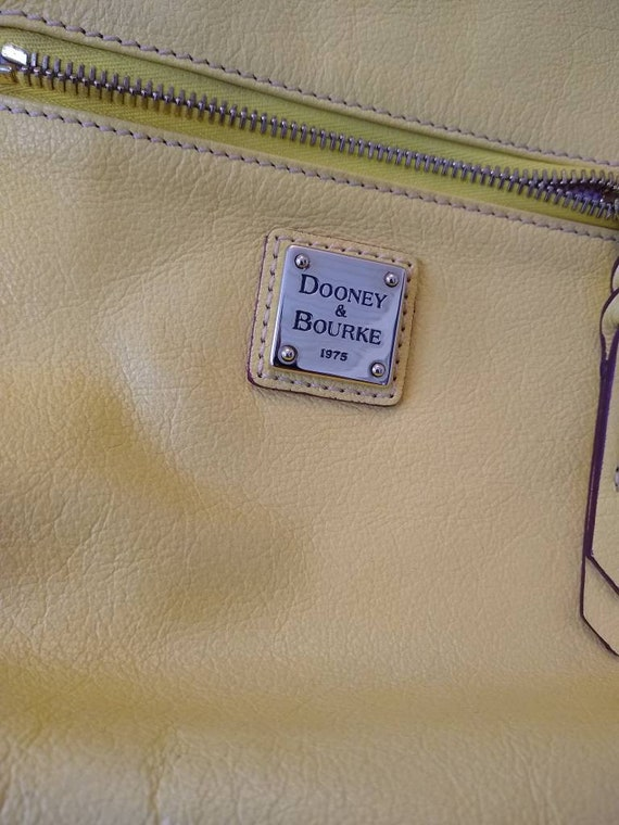 Dooney & Bourke Butter Yellow Soft Leather Large … - image 5