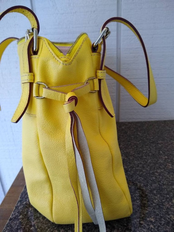 Dooney & Bourke Butter Yellow Soft Leather Large … - image 7