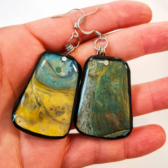 Handmade and hand-painted earrings