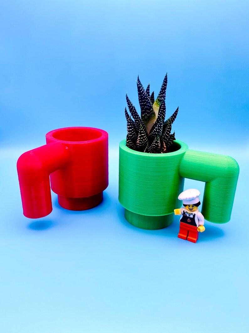 LEGO Succulent Planter Perfect Custom Gift