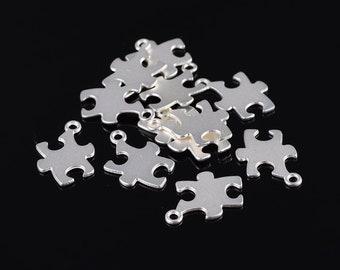 "6pcs-1.25/"" silver puzzel charm,silver game charm"