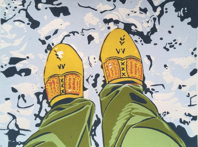 Linosnede Dutch shoes