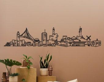 Jerusalem cityscape - Metal home decor