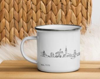 New York skyline - Enamel Mug