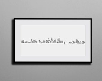 Custom-made Cityscape // Tell your own story with a unique cityscape on Canvas