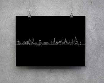 New York skyline - Poster