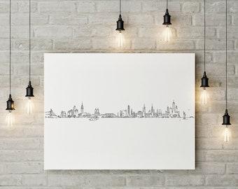 New York skyline - Canvas print