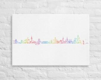 New York skyline Pride edition - canvas print home decor