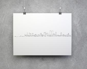 Tel Aviv skyline (extended) - Paper print